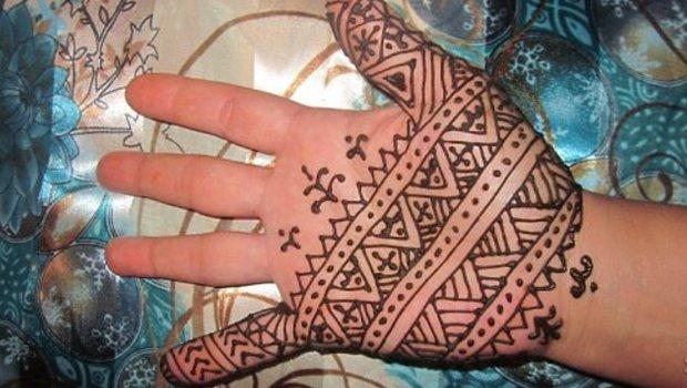 Wzory tatuaży mehndi z Afryki Północnej