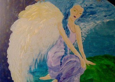 Opiekun o anielskiej energii uziemiający podopiecznego