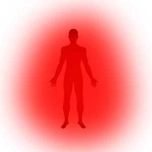 czerwona aura